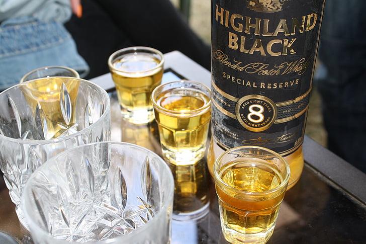 alkoholi, pudel, Tabel, klaas, jook, alkohoolsed, vedelik