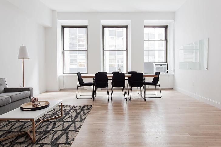 cadires, pis, mobles, l'interior, disseny d'interiors, Làmpada, parquet