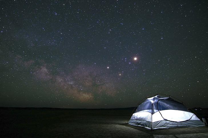 camping, constellation, cosmos, dark, exploration, galaxy, night