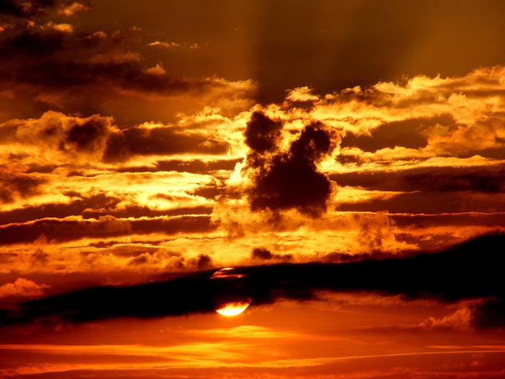 sunrise, photography, cloud, sky, sun, Sunset, clouds