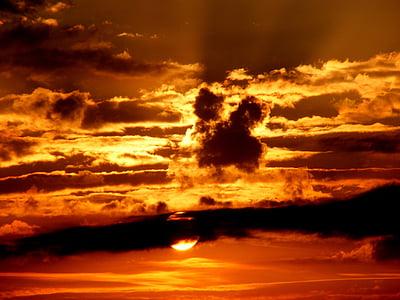 gündoğumu, Fotoğraf, bulut, gökyüzü, Güneş, günbatımı, bulutlar