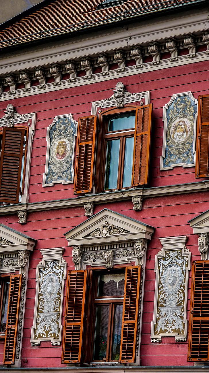 slovenia, building, house, city, architecture