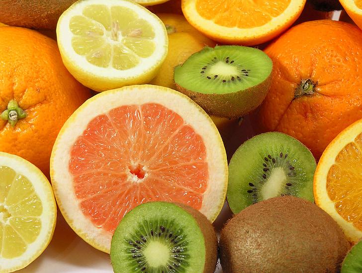 fruita, taronges, llimona, Kiwi, vitamines, la riquesa d ', fruites del Sud