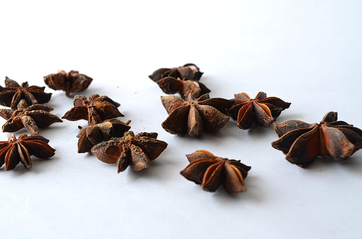 anise, chinese star anise, illicium verum, star anise, brown, flavor, food