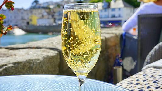 alkoholi, jook, tähistada, šampanja, šampanja klaas, jook, klaas