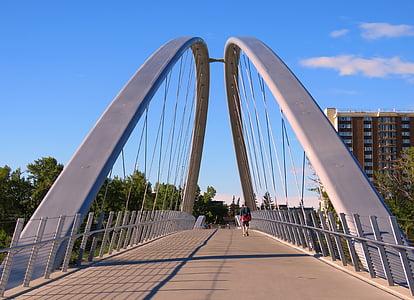 bridge, arch, calgary, canada, urban, city, bridge - Man Made Structure