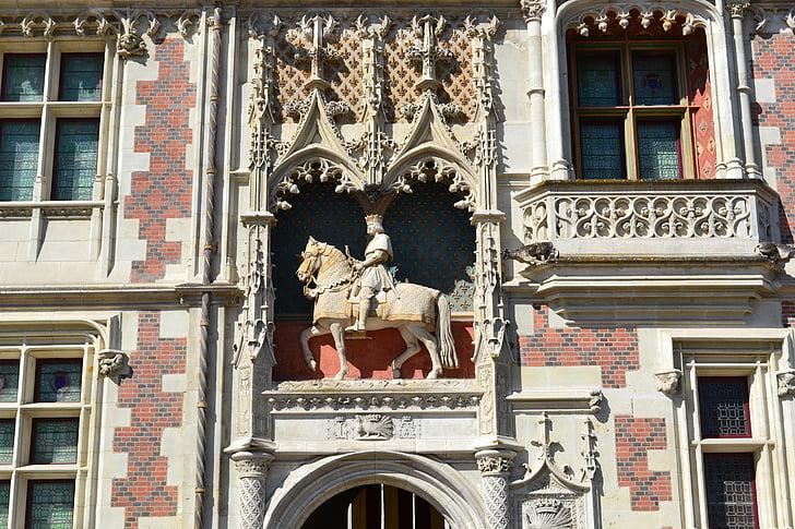 Blois, Luj xii., kip, bodljikavo prase, dvorac, srednjovjekovne arhitekture, fasada