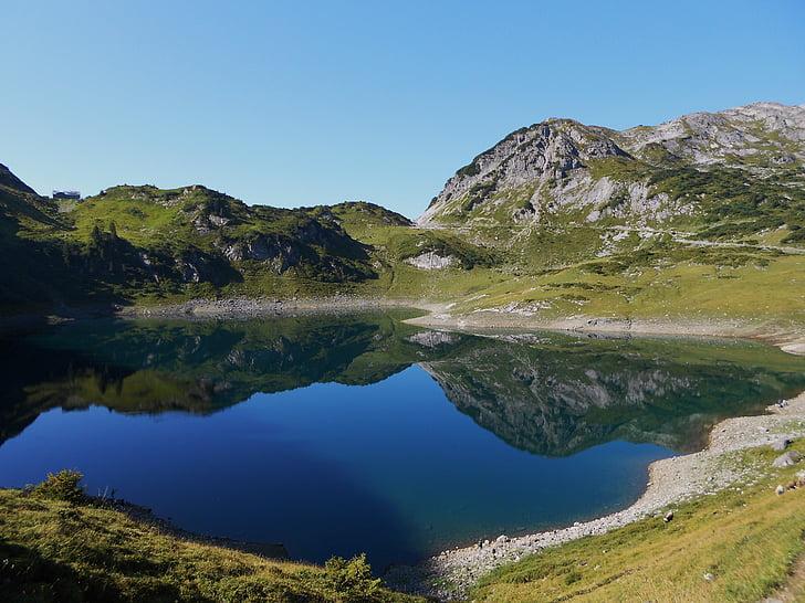 panorama gór, bergsee, Natura, piesze wycieczki, odzyskiwanie, ochrony przyrody