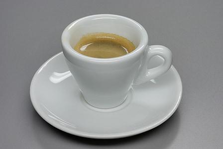 espreso, kauss, karstā, dzēriens, dzēriens, kafijas, kapučīno