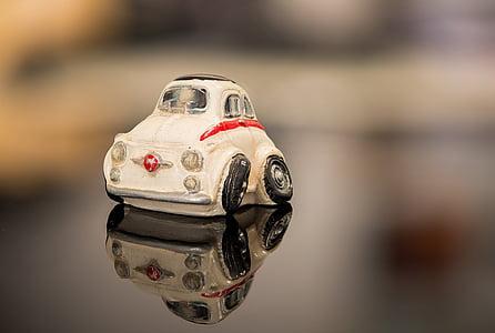 samochód, miniaturowe, Zabawka, odbicie, samochód z tworzywa sztucznego, détourée miniaturowy