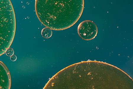 нефти в воде, глаз нефти, жидкость, Аннотация, Текстура, макрос, нефть