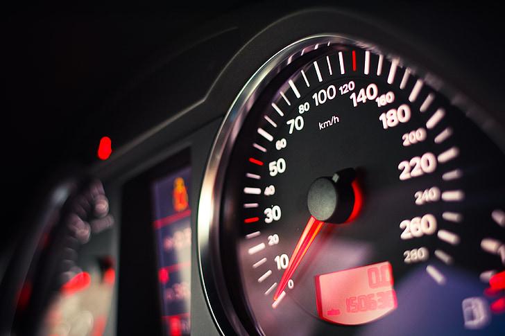 nopeusmittari, auton, nopeus, Dash, ään, matka, Tutustu