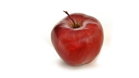 Poma, pomes, fruita, fruites, vermell, aliments i begudes, aliments