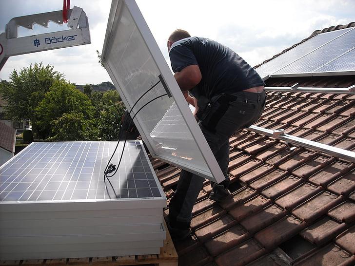 Solárne panely, umiestnenie, strešná krytina, Zelená energia, zelenej energie, odolné, elektrickej energie