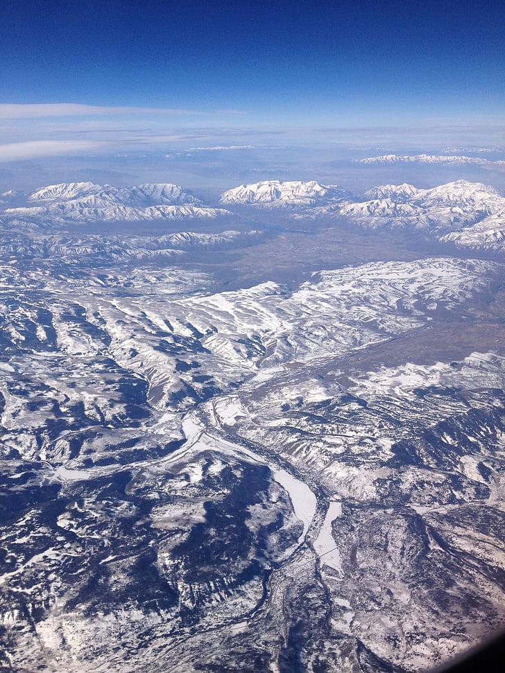 gore, pogled iz zraka, krajine, gorovje