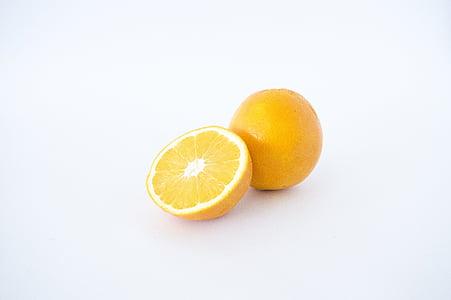 橘子, 切片, 橙色, 食品, 水果, 健康, 新鲜