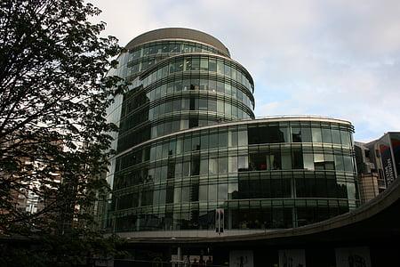 moderní budova, Skleněná budova, Londýn, moderní architektura, budovy