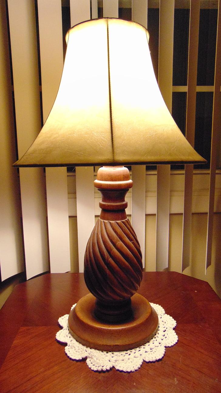 lamp, old fashion, old, retro, style, light, interior