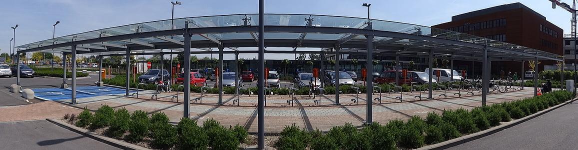 panoramic view, architecture, glass, panoramic, panorama, modern, steel