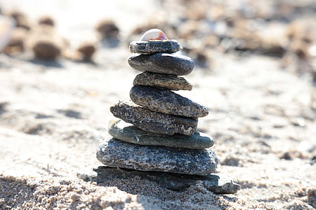 stranden, steiner, skjell, sand, sjøen, Sassi, småstein