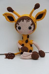 Żyrafa, Żyrafa na szydełku, szydełku wzór żyrafa, uścisk, żółty, na szydełku, zabawki pluszowe