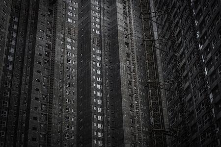 Apartemen, Apartemen, bangunan, perusahaan, abu-abu, bangunan tinggi, kompleks perumahan