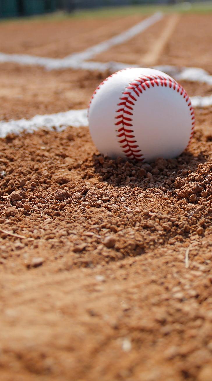 baseball, ball, gravel, baseball - Ball, sport, baseball - Sport, baseball Diamond
