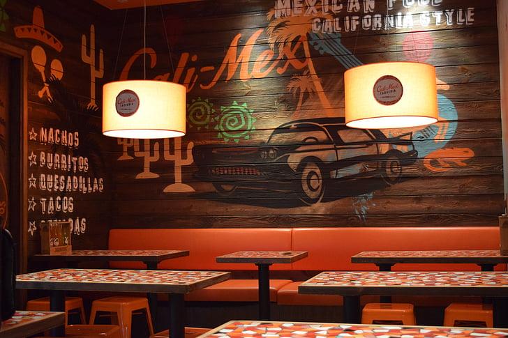 Restaurant, Mexicans, pintura mural