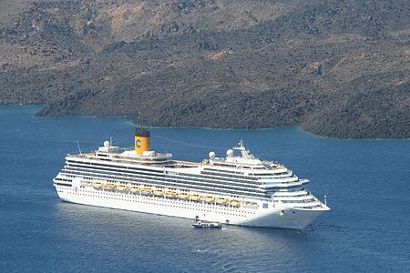 kryssning, kryssningsfartyg, Medelhavet, havet, fartyg, Holiday, San direktören