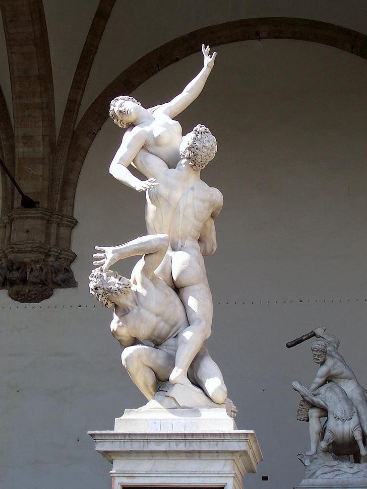bust, statue, sculpture, museum, mythology