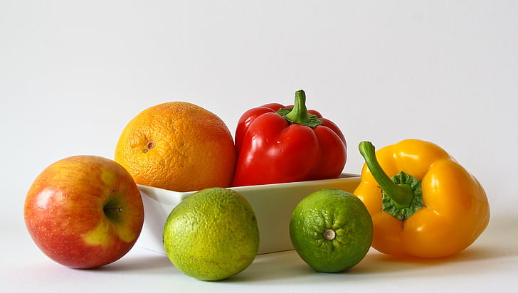 fruites, vitamines, taronja, Sa, aliments, Poma, llimona