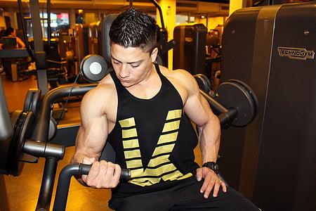 bodybuilding, utöva, Akademin, Kid, mannen, utbildning, utöva