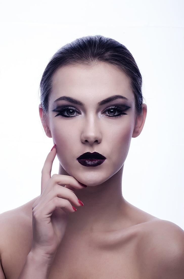 hermosa, mujer, chica, Glamour, modelo, persona, Retrato