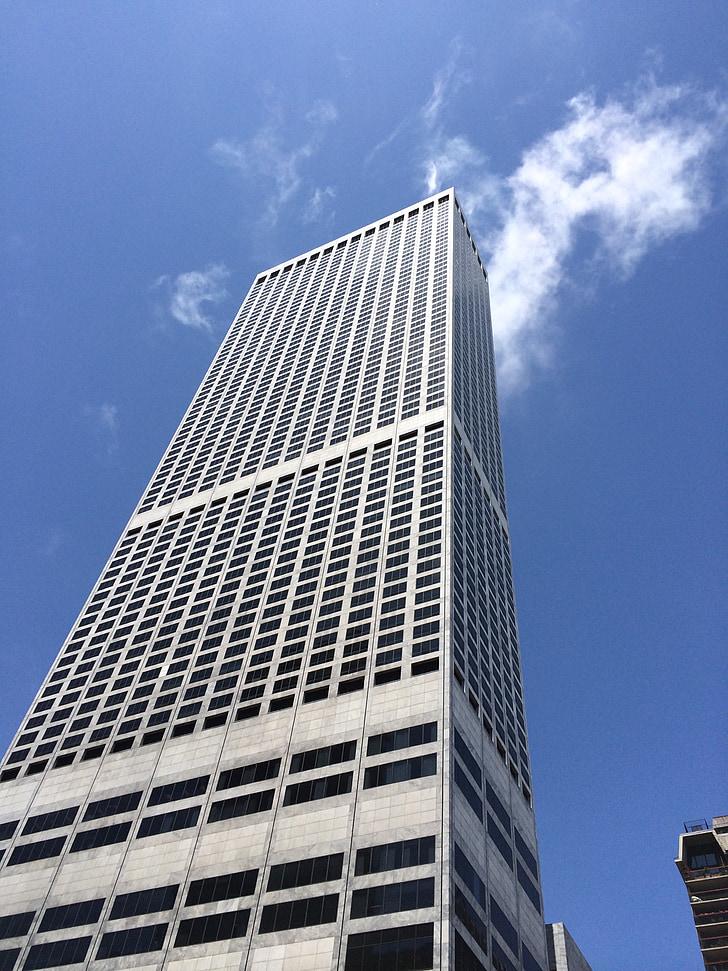 city, building, blue, urban, corporate, skyscraper, cityscape