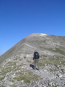 mountain, hike, peak, hiking, adventure, travel, nature