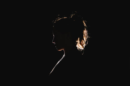 fosc, femella, persona, silueta, dona, dones, persones