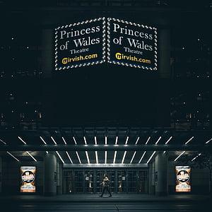 kino, Izklaide, gaismas, filmu, naktī, persona, Rādīt