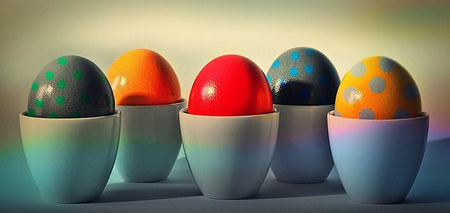 부활절 달걀, 부활절, 달걀, 달걀 컵, 부활절 달걀 그림, 색, 페인트