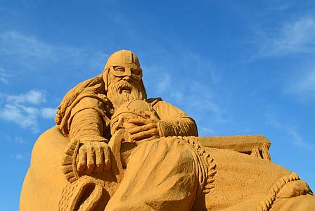 sand, sculpture, sand sculpture, art, sandburg, sandworld, artwork