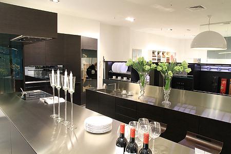 keuken, interieur, interieur keuken, eettafel, keuken interieur, tabel, vieren
