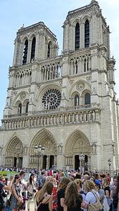 París, Notre-dame, l'església, Basílica, casa de culte, Kirchplatz, França