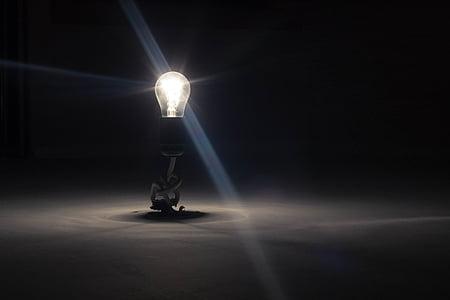 Glühbirne, Lampe, Licht, Hotspot