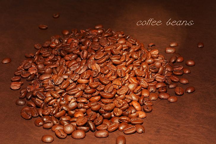 coffee beans, roasted, coffee, beans, aroma, caffeine, roasting