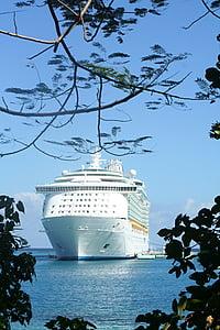 kryssning, fartyg, havet, kryssningsfartyg, vatten, Ocean, Pier