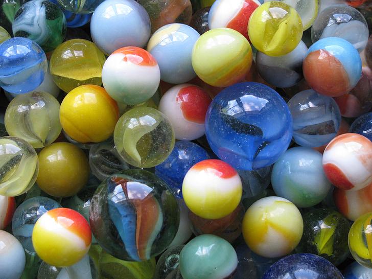 marbres, joguines, tiradors, vidre, col·leccionables, infantesa