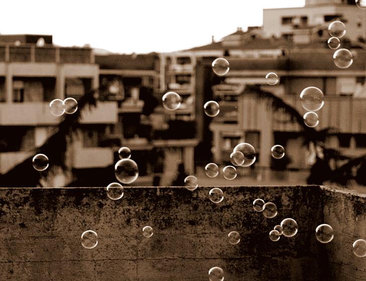 bubbels, zeep, kind, leuk, klap