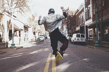 hip hop, dancer, silhouette, man, male, unicycle, jump