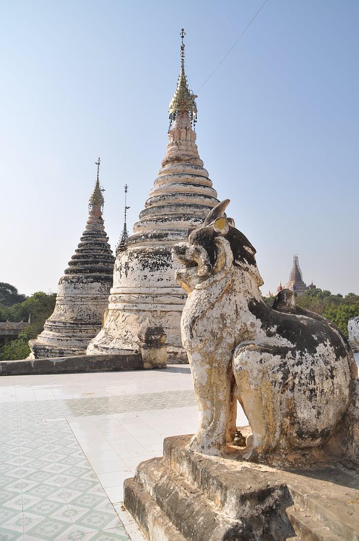 stupa, Pagoda, Barma, Mjanmarsko, chrám, chrámový komplex, Bagan