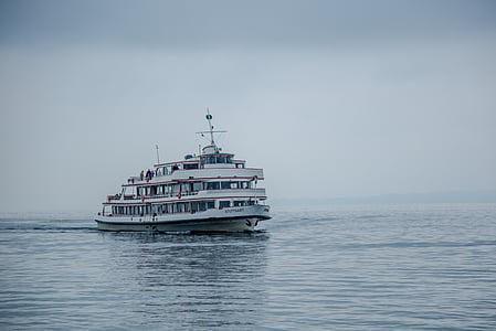 Feri, kapal penumpang, kapal, Danau constance, kabut, boot, air