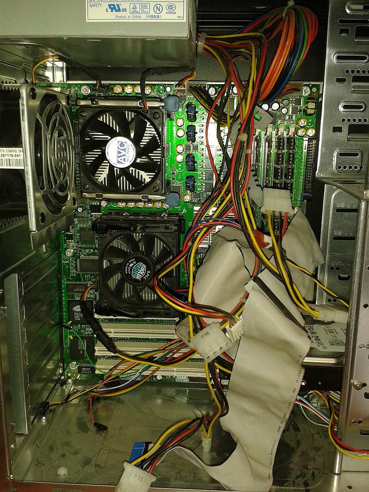 免费图片: 计算机, 维护, pc, 损坏的计算机, 电缆, 打开计算机 - Hippopx